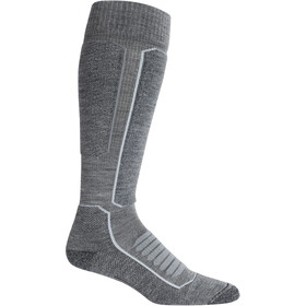 Icebreaker Ski+ Medium OTC Socks Herre Gritstone Heather/Black